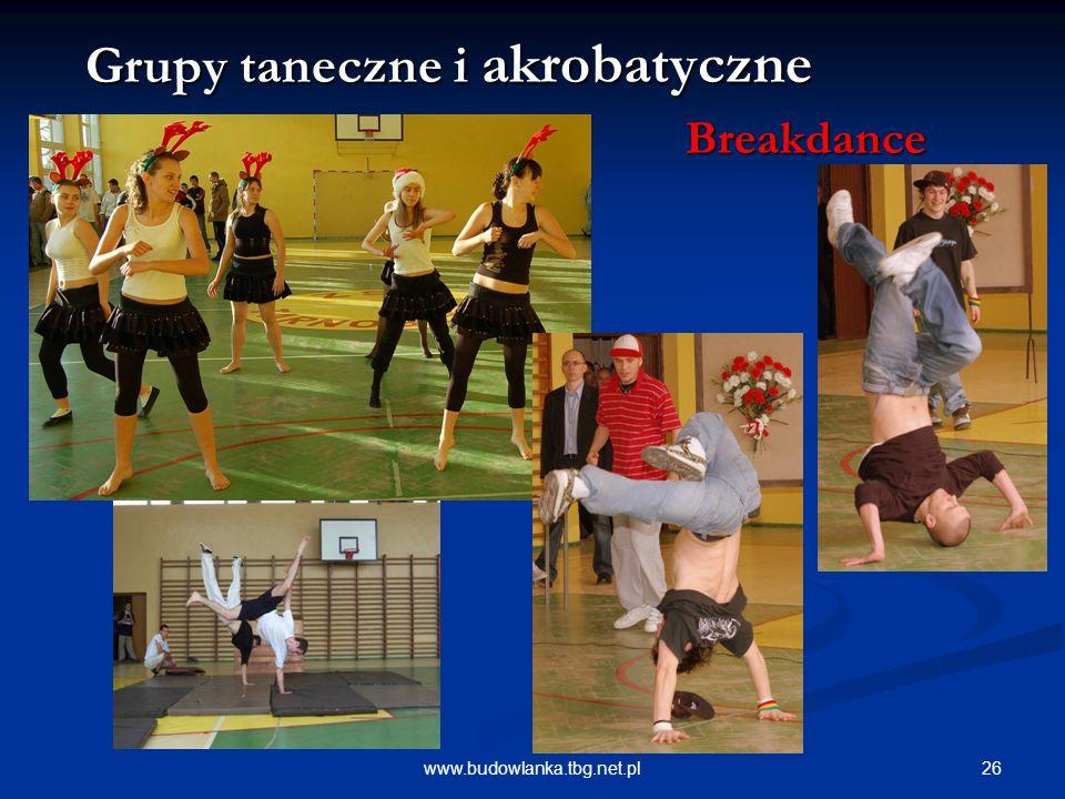 Grupy taneczne i akrobatyczne Breakdance