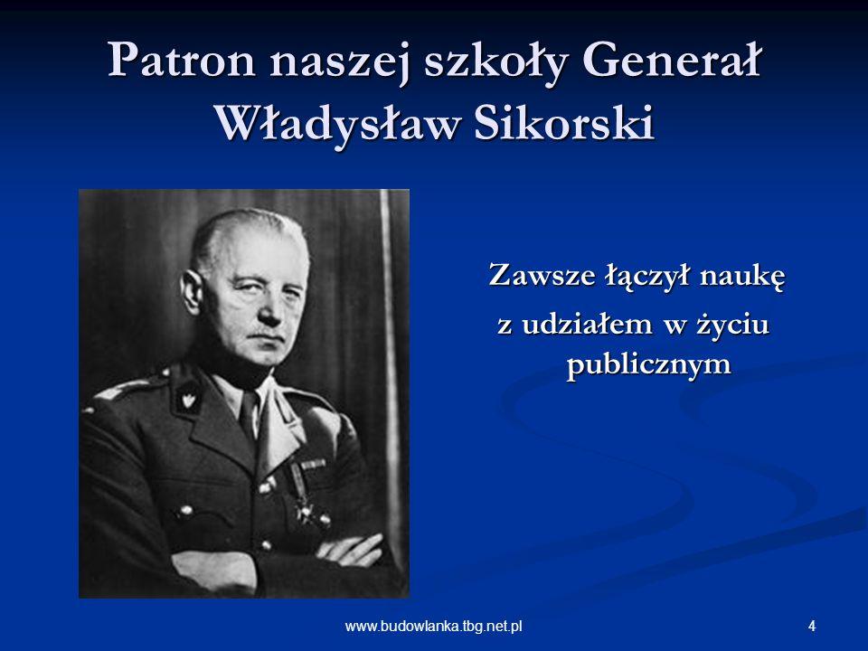 Patron naszej szkoły Generał Władysław Sikorski