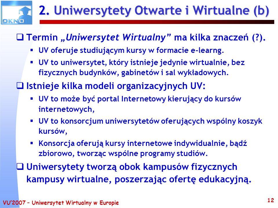 2. Uniwersytety Otwarte i Wirtualne (b)