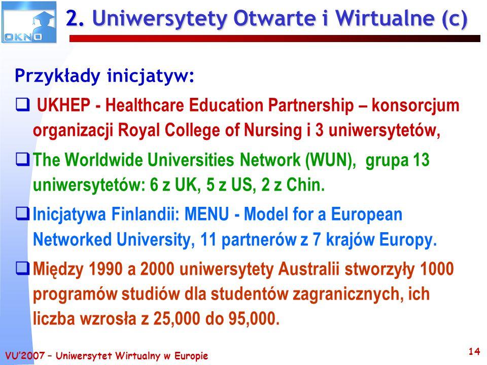 2. Uniwersytety Otwarte i Wirtualne (c)