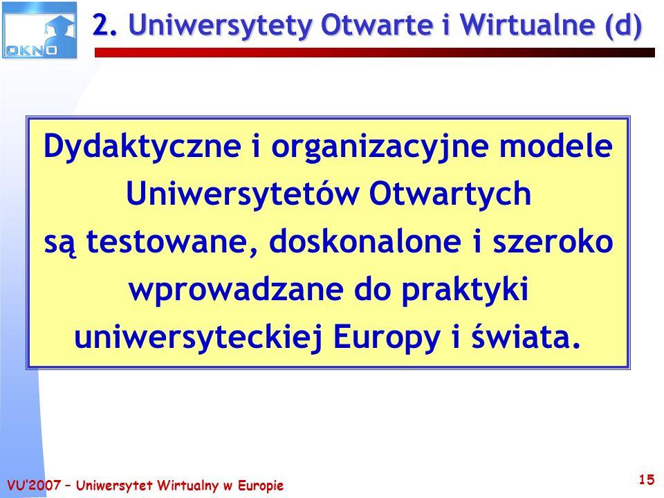 2. Uniwersytety Otwarte i Wirtualne (d)