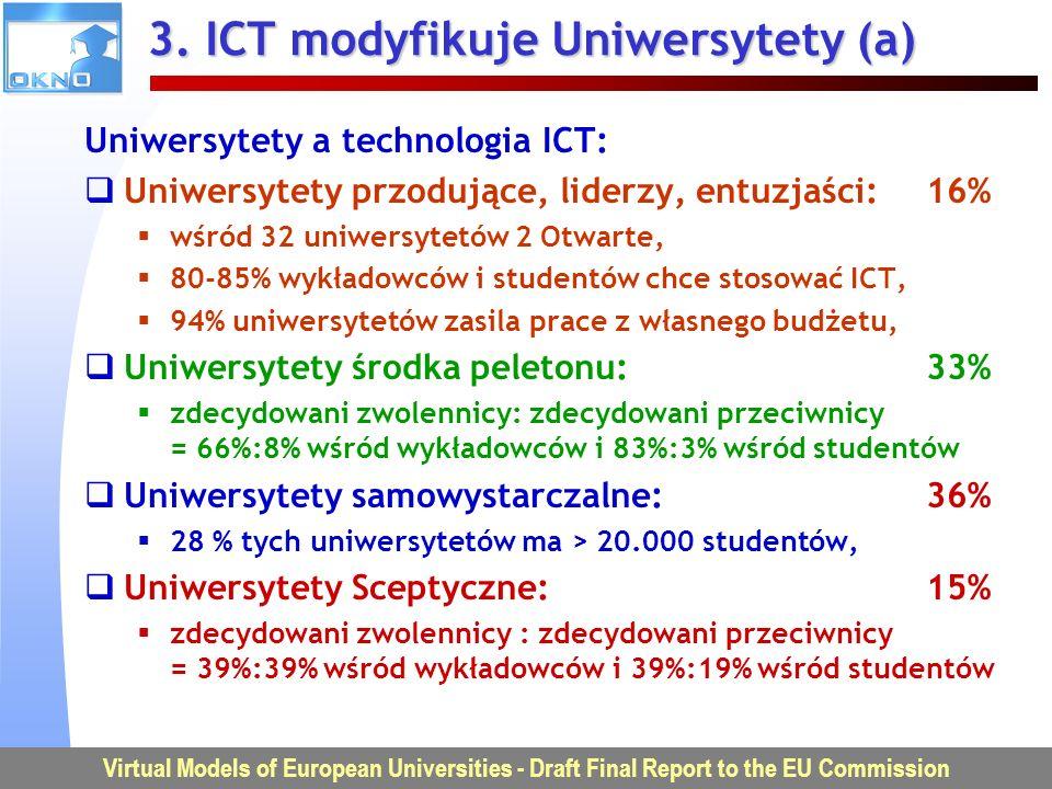 3. ICT modyfikuje Uniwersytety (a)