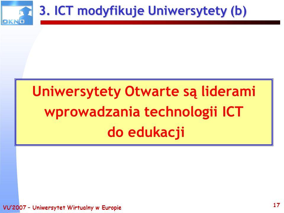 3. ICT modyfikuje Uniwersytety (b)