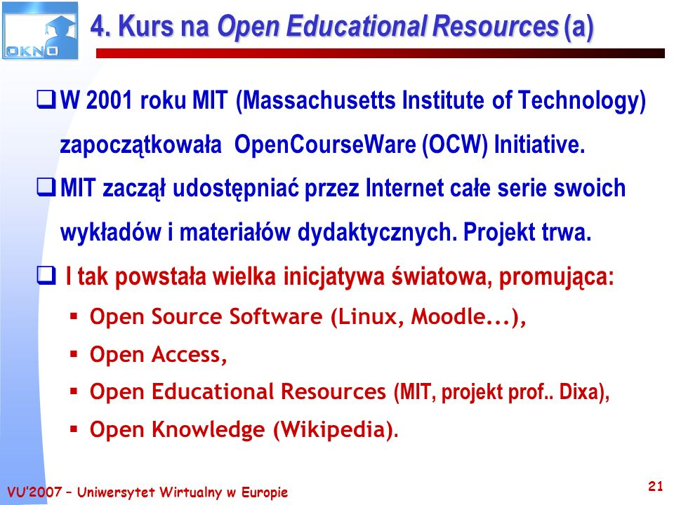 4. Kurs na Open Educational Resources (a)