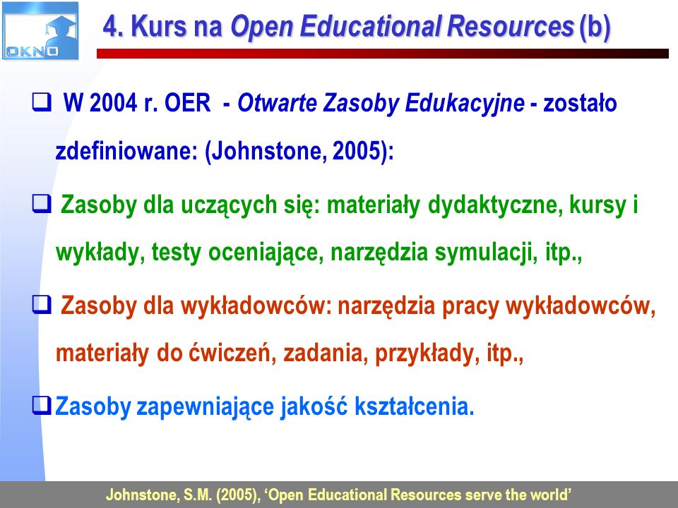 4. Kurs na Open Educational Resources (b)