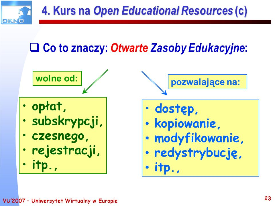 4. Kurs na Open Educational Resources (c)