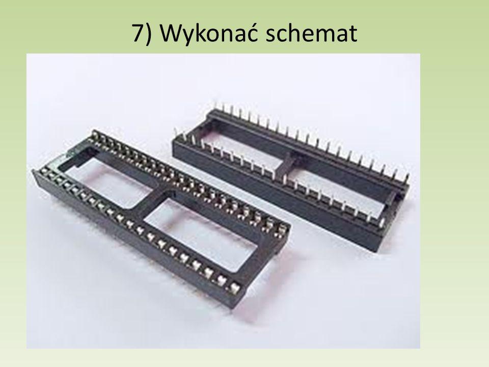 7) Wykonać schemat Zasilanie: 5V stabilizowane (obliczyć zrzut i dysypację termiczną)