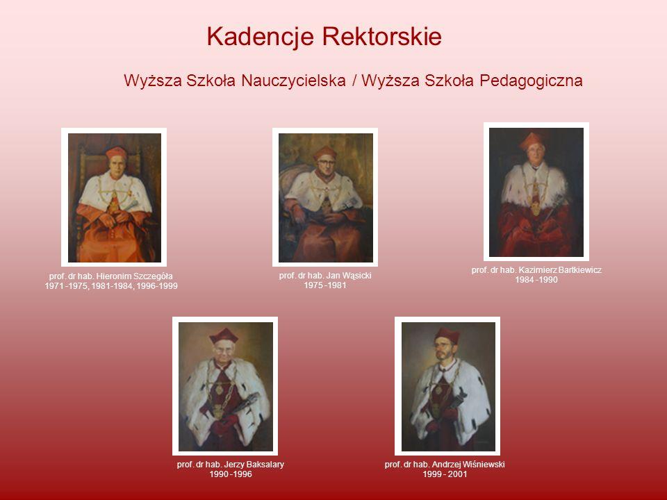 prof. dr hab. Hieronim Szczegóła 1971 -1975, 1981-1984, 1996-1999