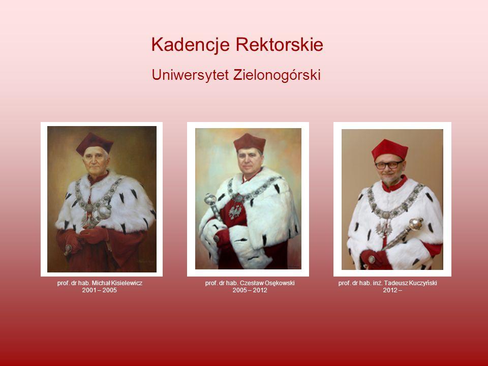 Kadencje Rektorskie Uniwersytet Zielonogórski