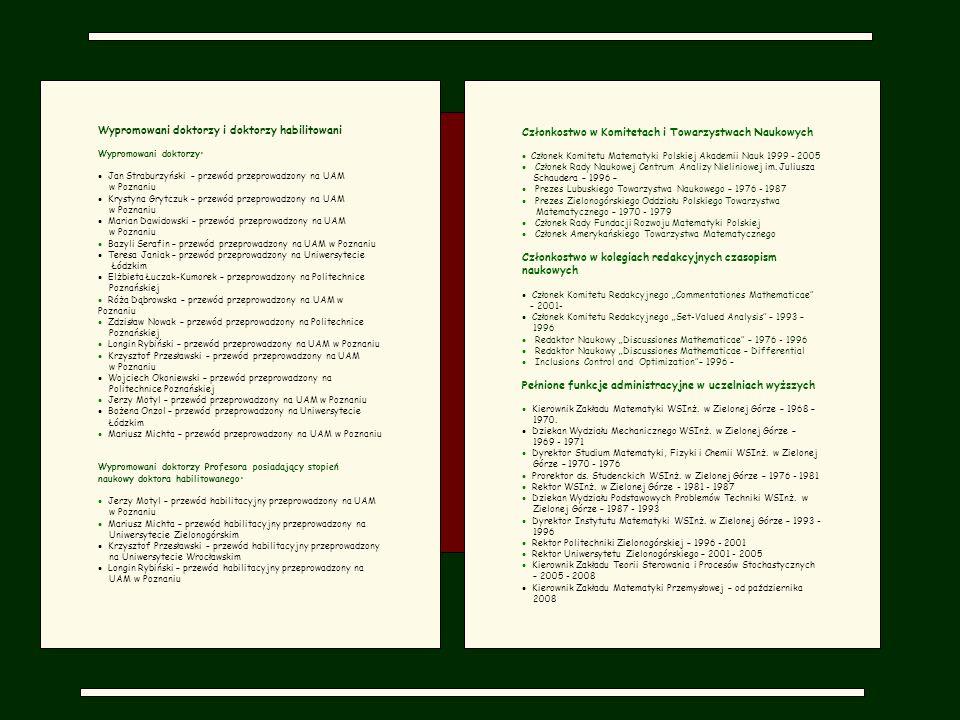 Członkostwo w Komitetach i Towarzystwach Naukowych