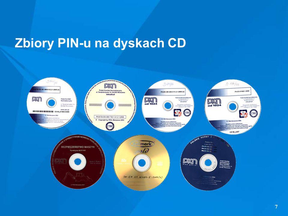 Zbiory PIN-u na dyskach CD