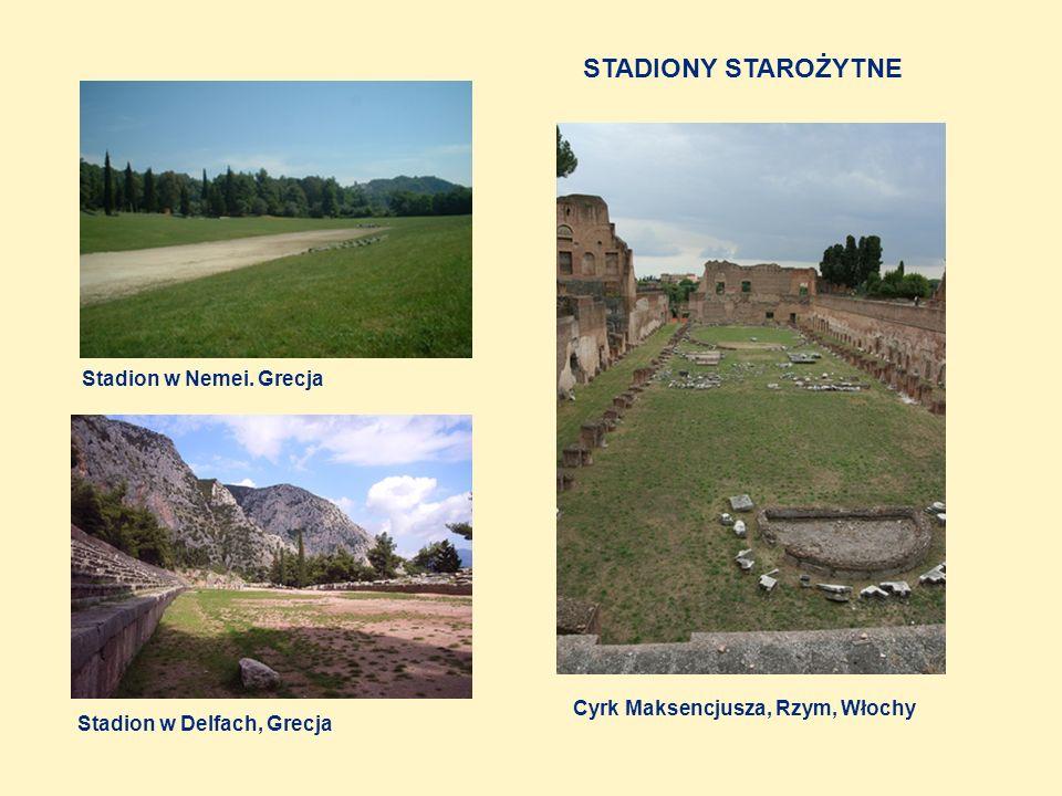 STADIONY STAROŻYTNE Stadion w Nemei. Grecja