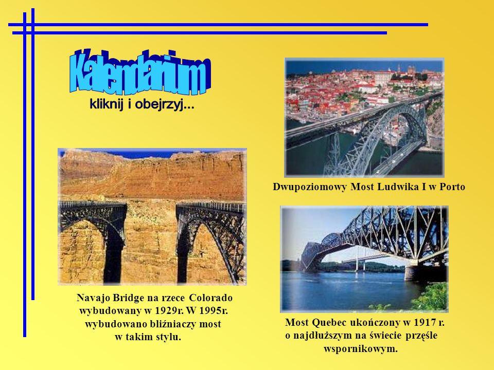 Kalendarium kliknij i obejrzyj... Dwupoziomowy Most Ludwika I w Porto