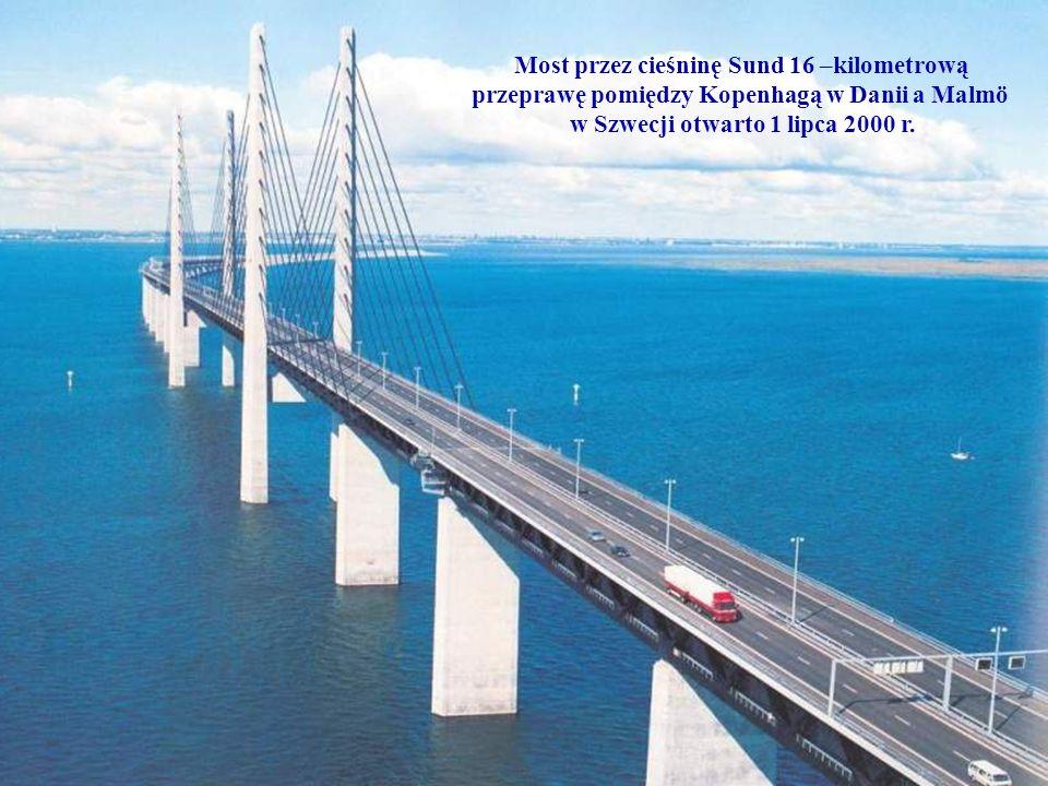 Most przez cieśninę Sund 16 –kilometrową