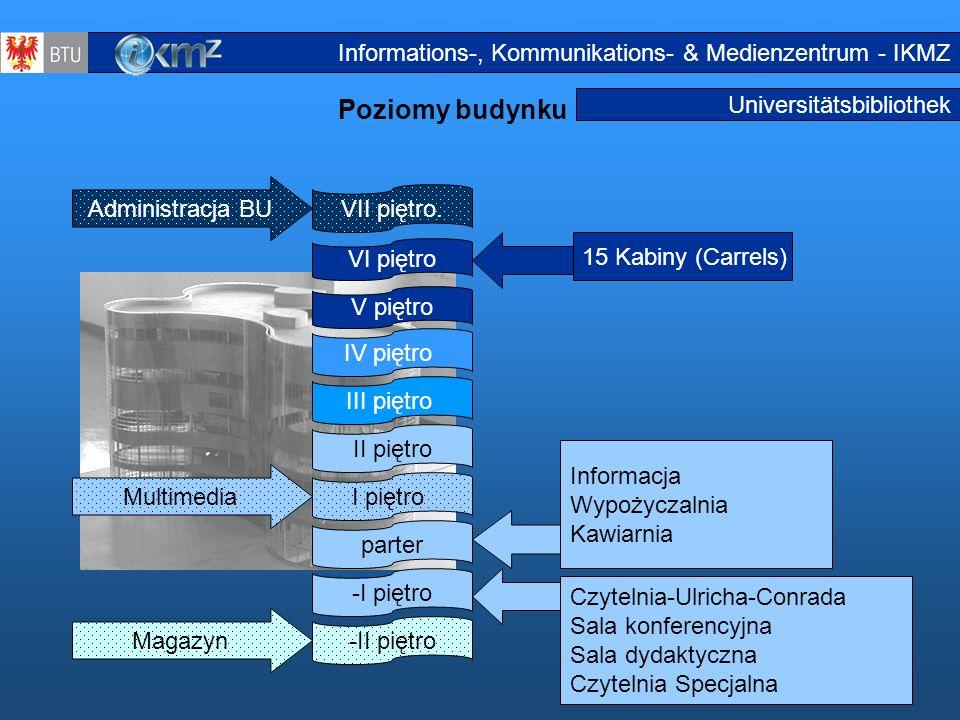 Poziomy budynku Informations-, Kommunikations- & Medienzentrum - IKMZ