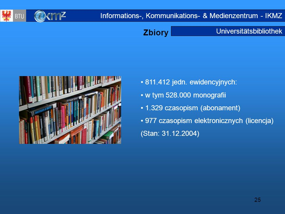 Zbiory Informations-, Kommunikations- & Medienzentrum - IKMZ