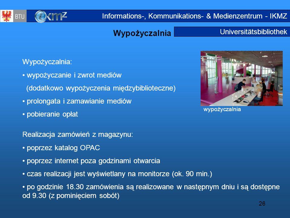 Wypożyczalnia Informations-, Kommunikations- & Medienzentrum - IKMZ
