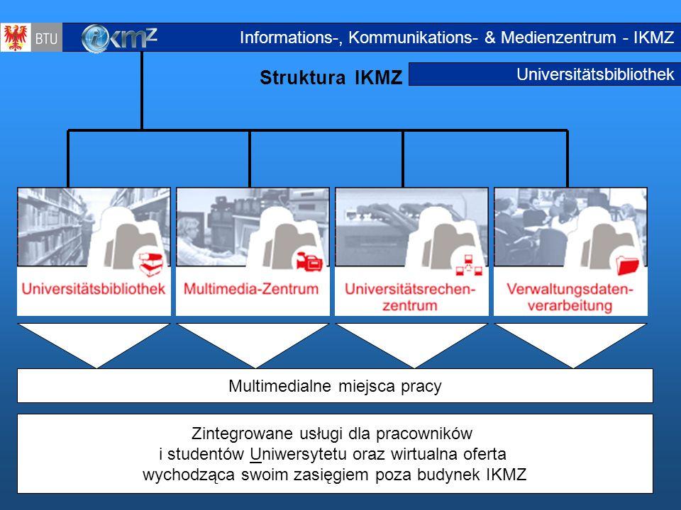 Struktura IKMZ Informations-, Kommunikations- & Medienzentrum - IKMZ