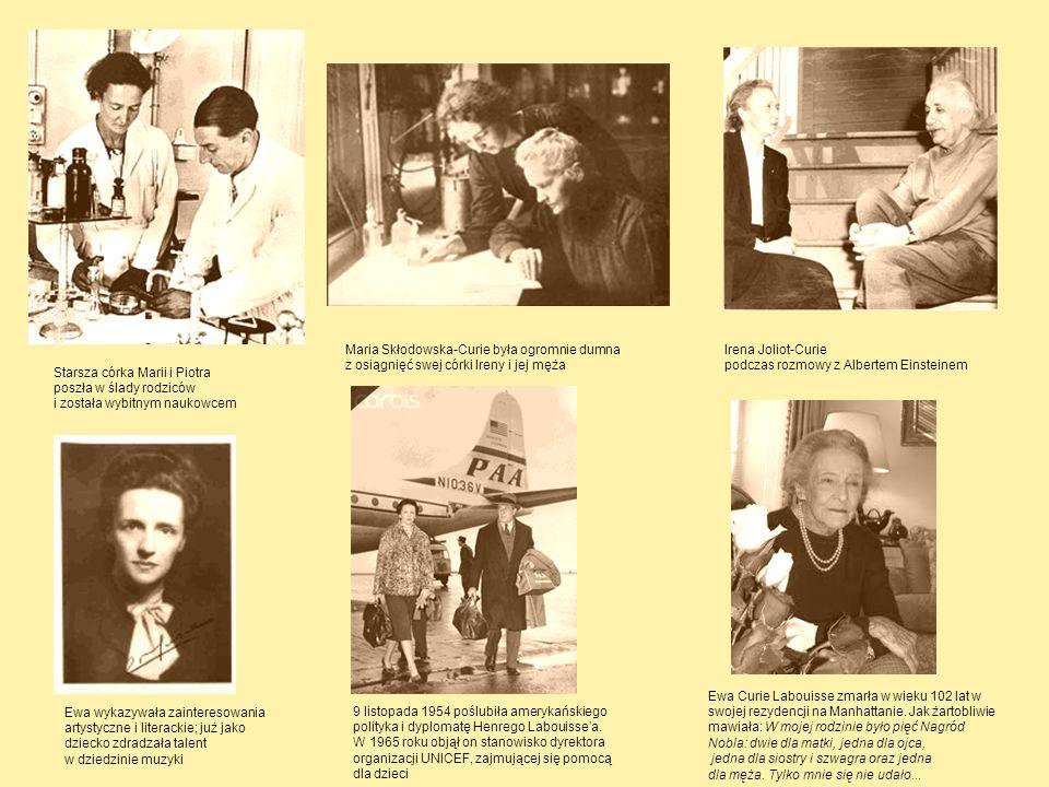 Maria Skłodowska-Curie była ogromnie dumna