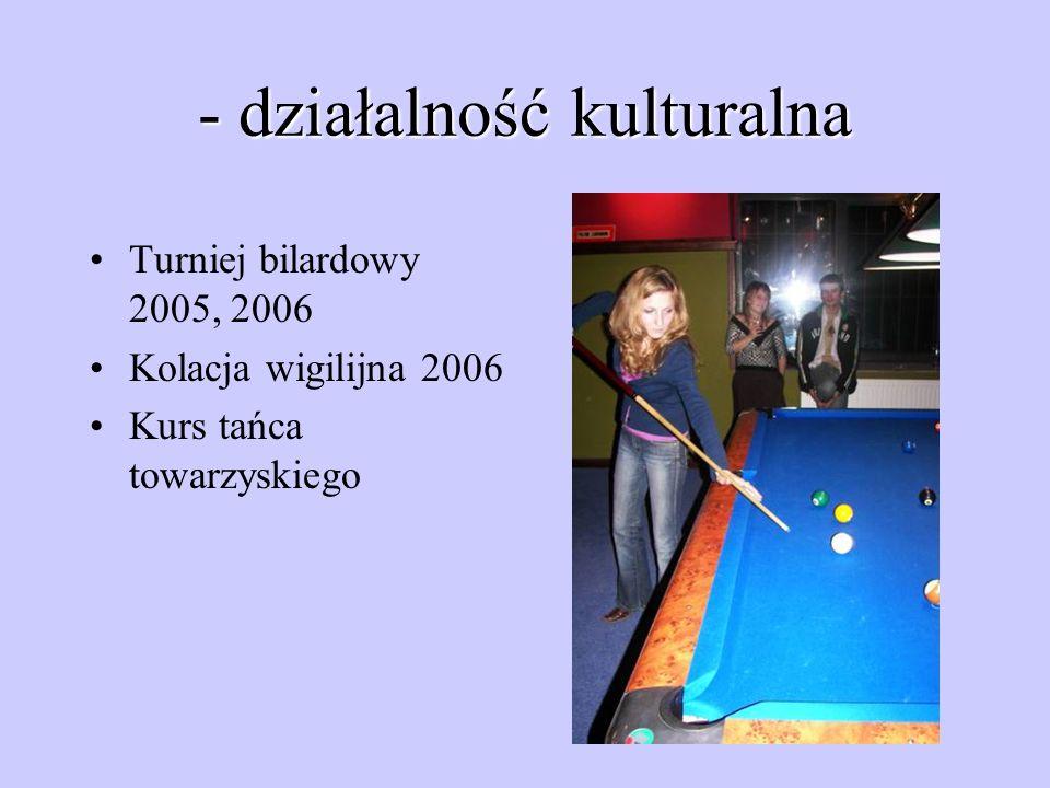 - działalność kulturalna