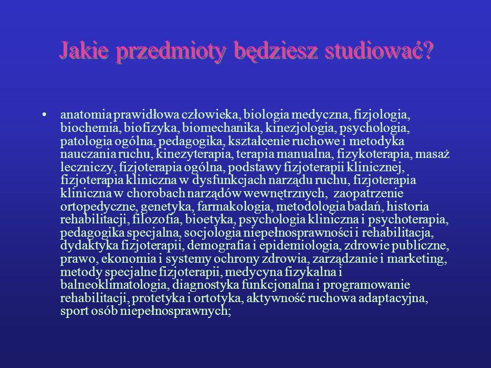 Jakie przedmioty będziesz studiować