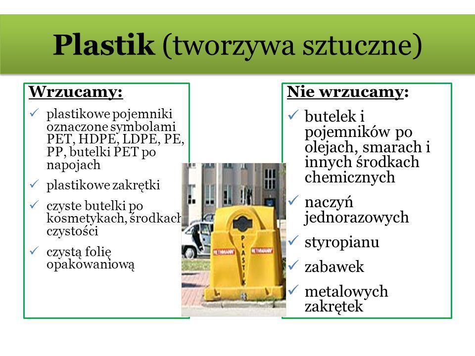 Plastik (tworzywa sztuczne)