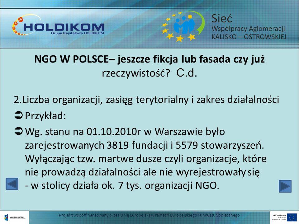 NGO W POLSCE– jeszcze fikcja lub fasada czy już rzeczywistość C.d.
