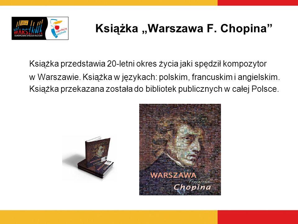 """Książka """"Warszawa F. Chopina"""