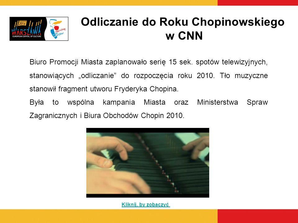 Odliczanie do Roku Chopinowskiego w CNN