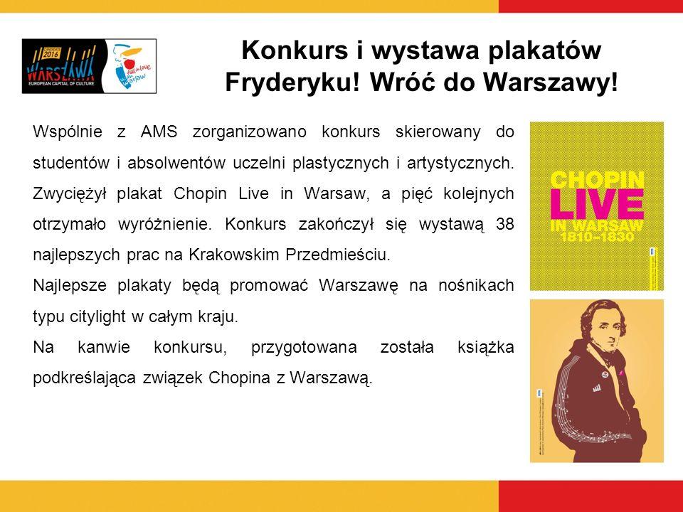 Konkurs i wystawa plakatów Fryderyku! Wróć do Warszawy!