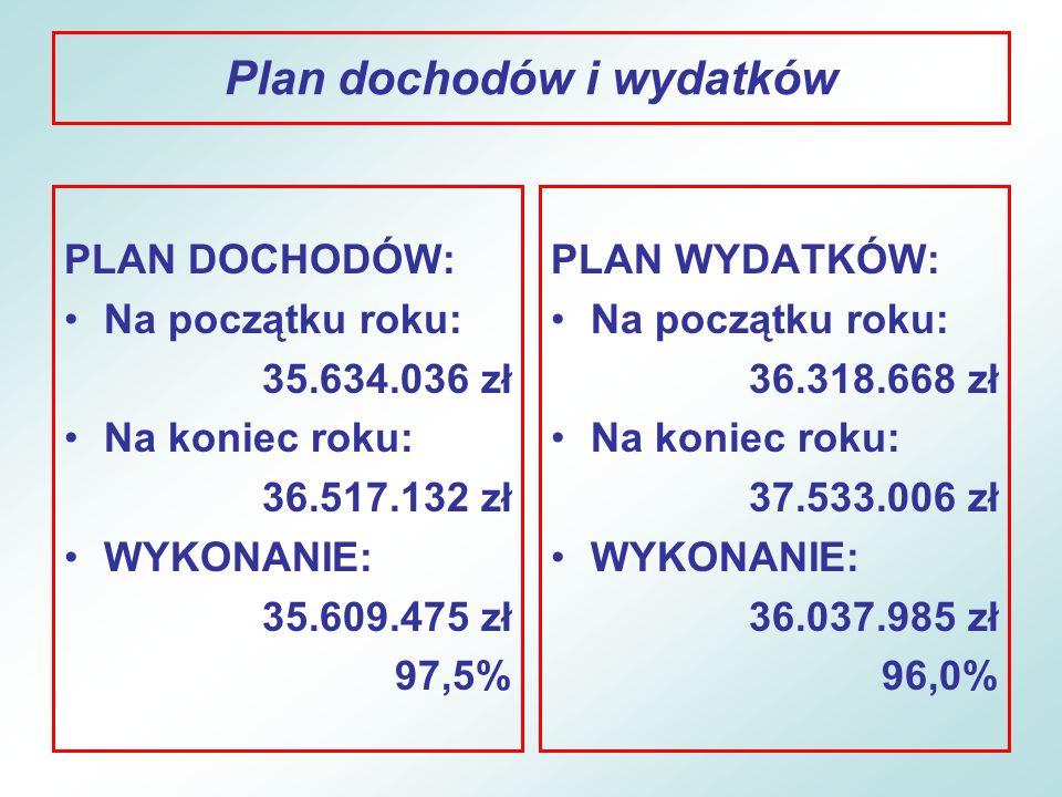 Plan dochodów i wydatków
