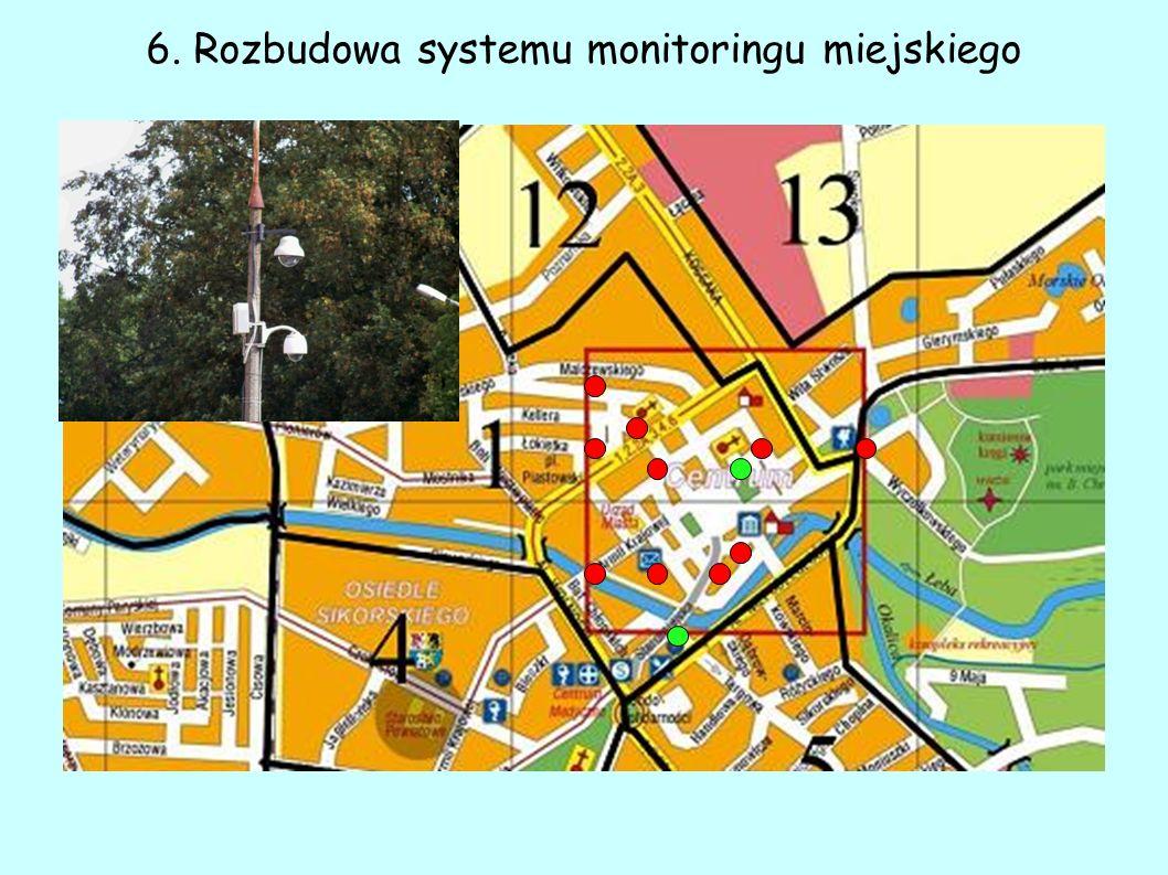 6. Rozbudowa systemu monitoringu miejskiego