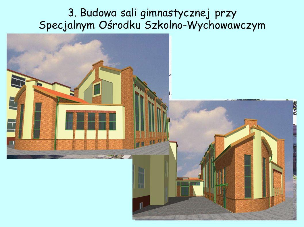 3. Budowa sali gimnastycznej przy