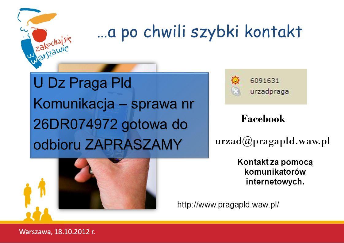 Kontakt za pomocą komunikatorów internetowych.