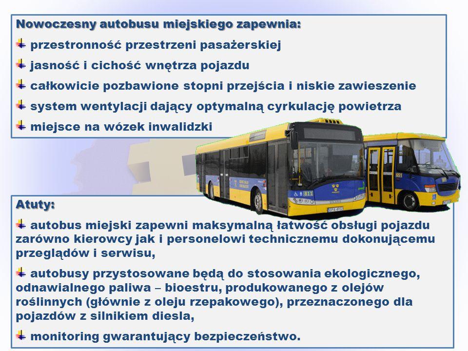 Nowoczesny autobusu miejskiego zapewnia: