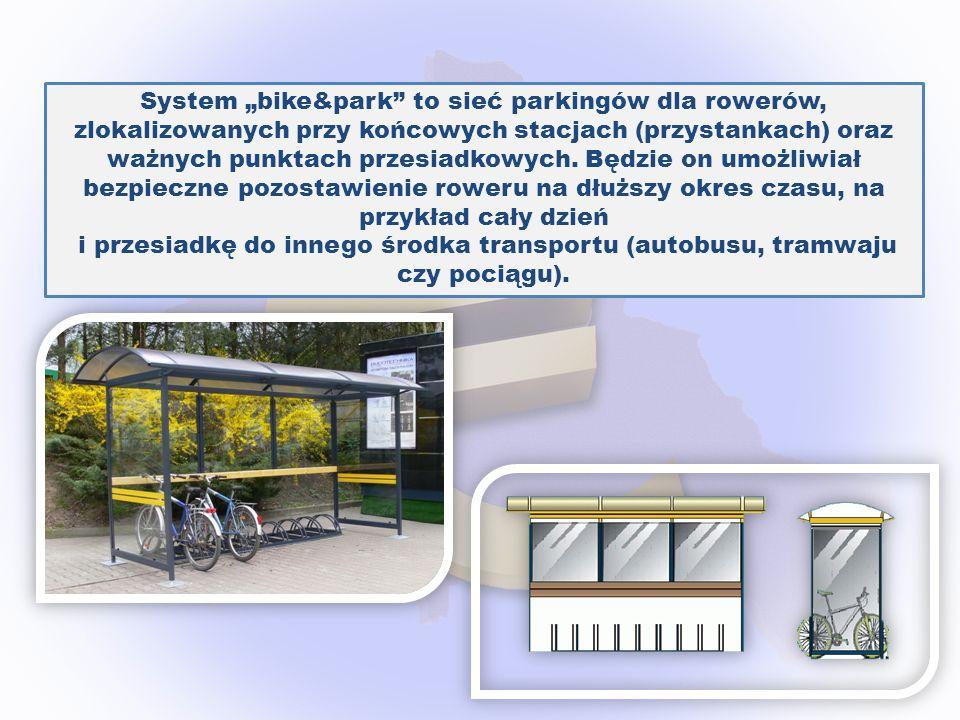 """System """"bike&park to sieć parkingów dla rowerów, zlokalizowanych przy końcowych stacjach (przystankach) oraz ważnych punktach przesiadkowych. Będzie on umożliwiał bezpieczne pozostawienie roweru na dłuższy okres czasu, na przykład cały dzień"""