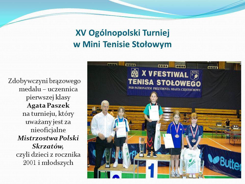 XV Ogólnopolski Turniej w Mini Tenisie Stołowym