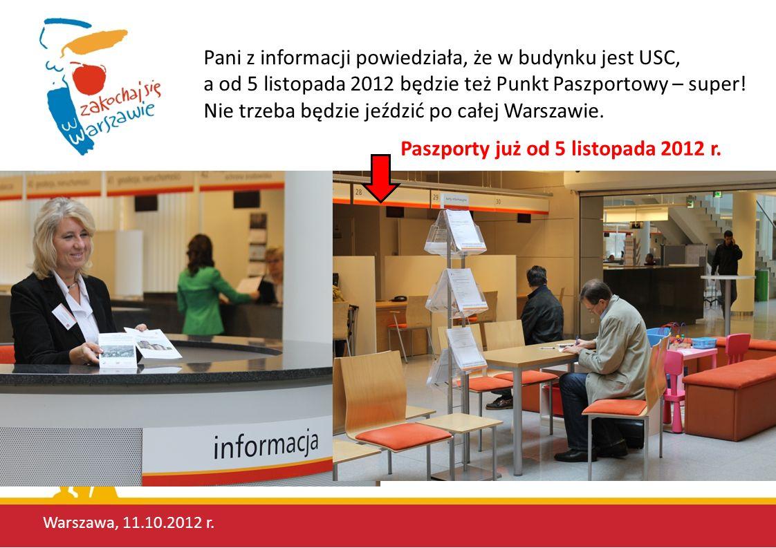 Paszporty już od 5 listopada 2012 r.
