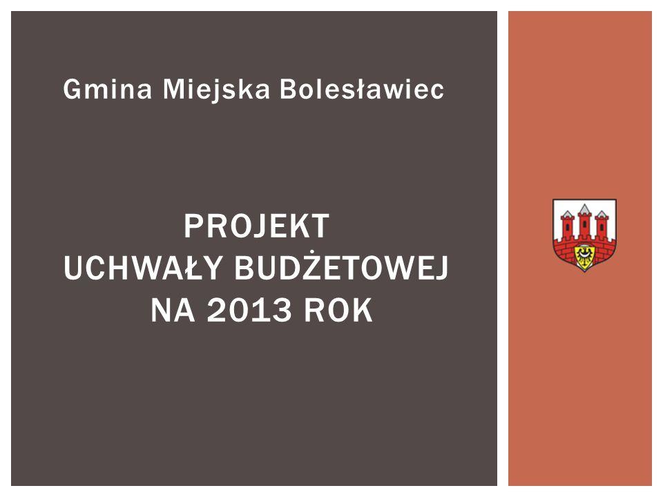 Projekt uchwały budżetowej na 2013 rok