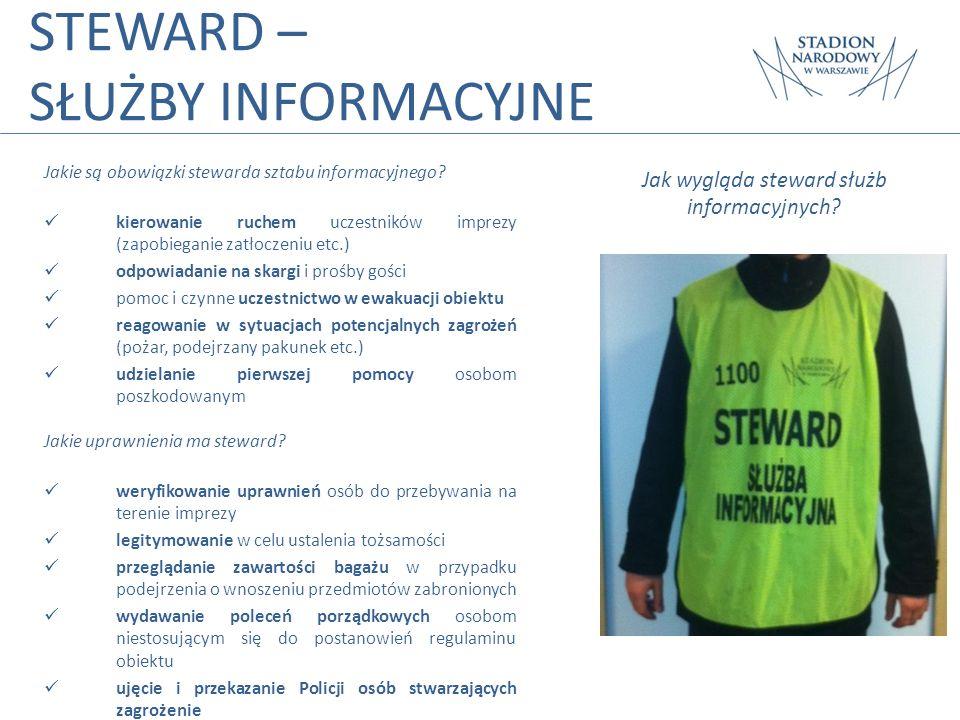 Jak wygląda steward służb informacyjnych