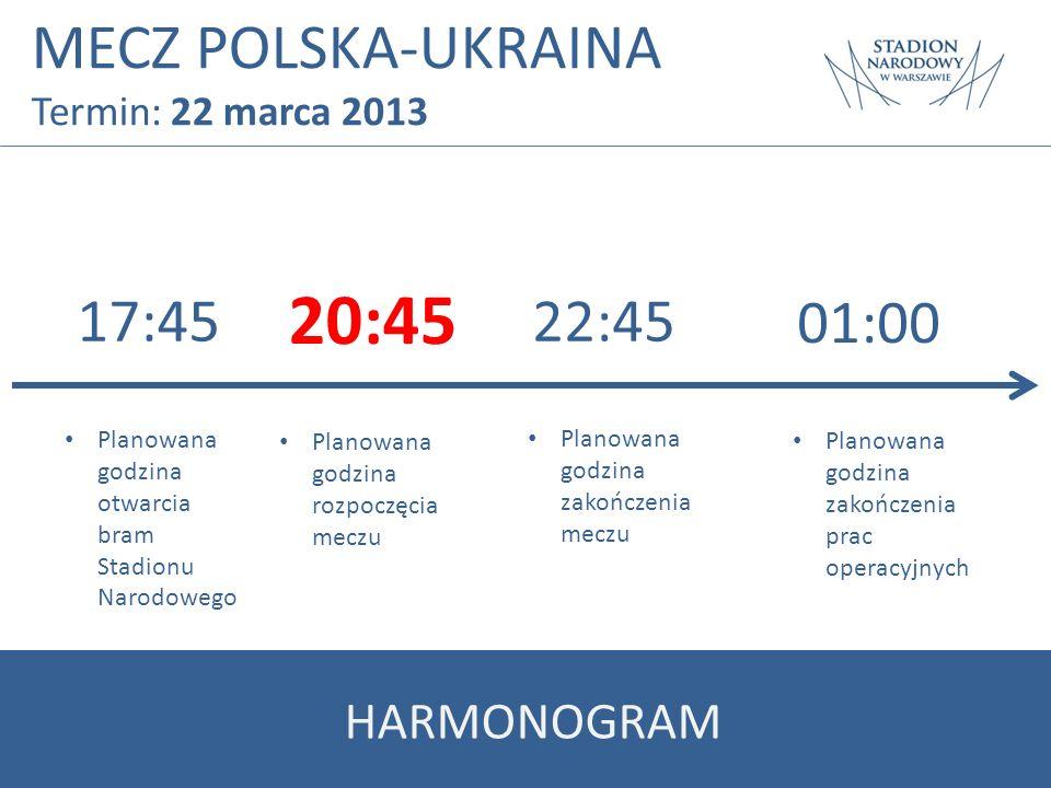 20:45 MECZ POLSKA-UKRAINA 01:00 17:45 22:45 HARMONOGRAM