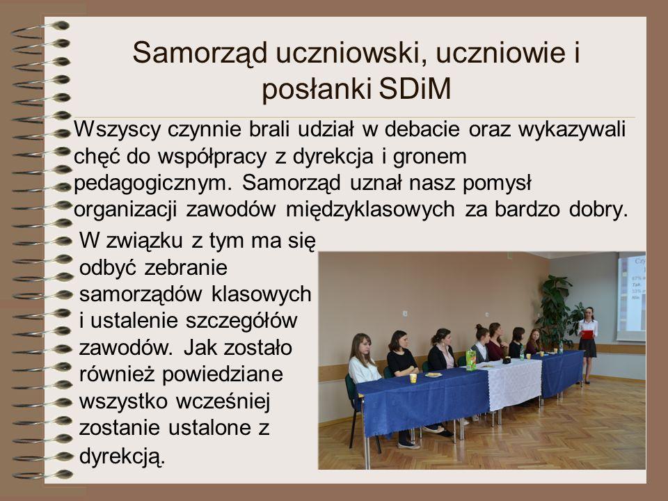 Samorząd uczniowski, uczniowie i posłanki SDiM