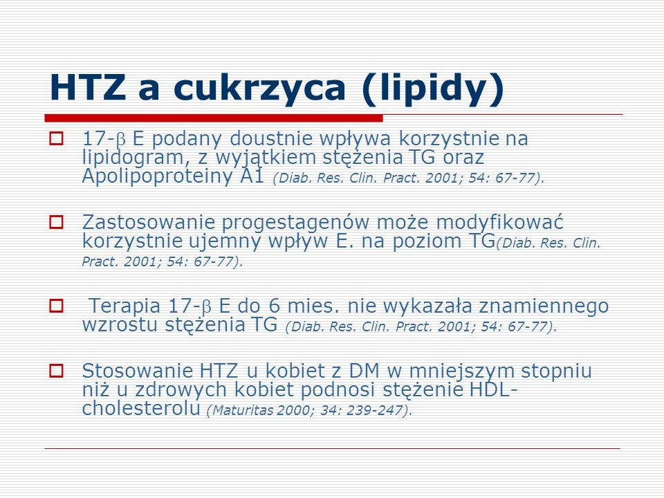 HTZ a cukrzyca (lipidy)