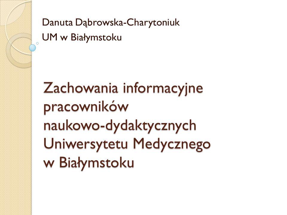 Danuta Dąbrowska-Charytoniuk UM w Białymstoku