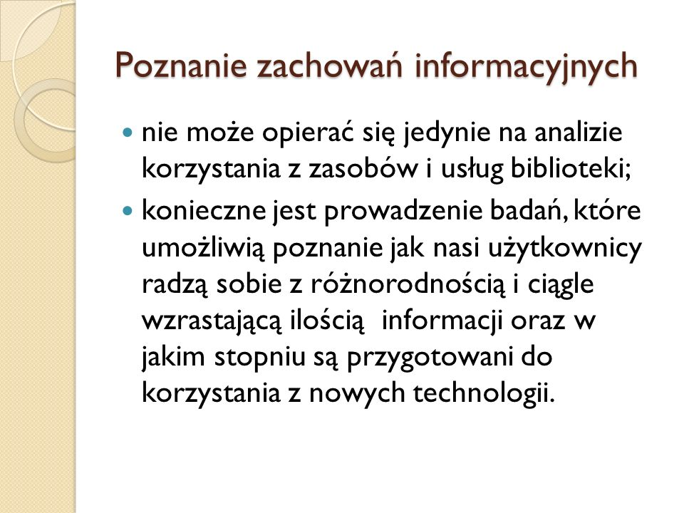 Poznanie zachowań informacyjnych