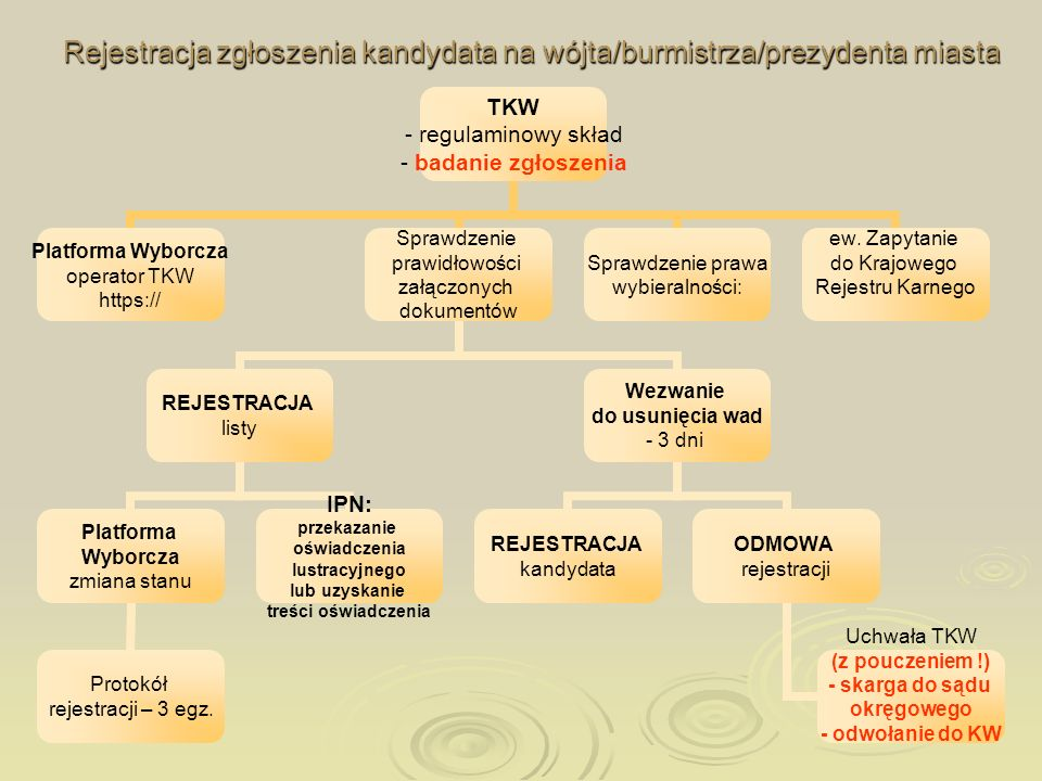 Rejestracja zgłoszenia kandydata na wójta/burmistrza/prezydenta miasta
