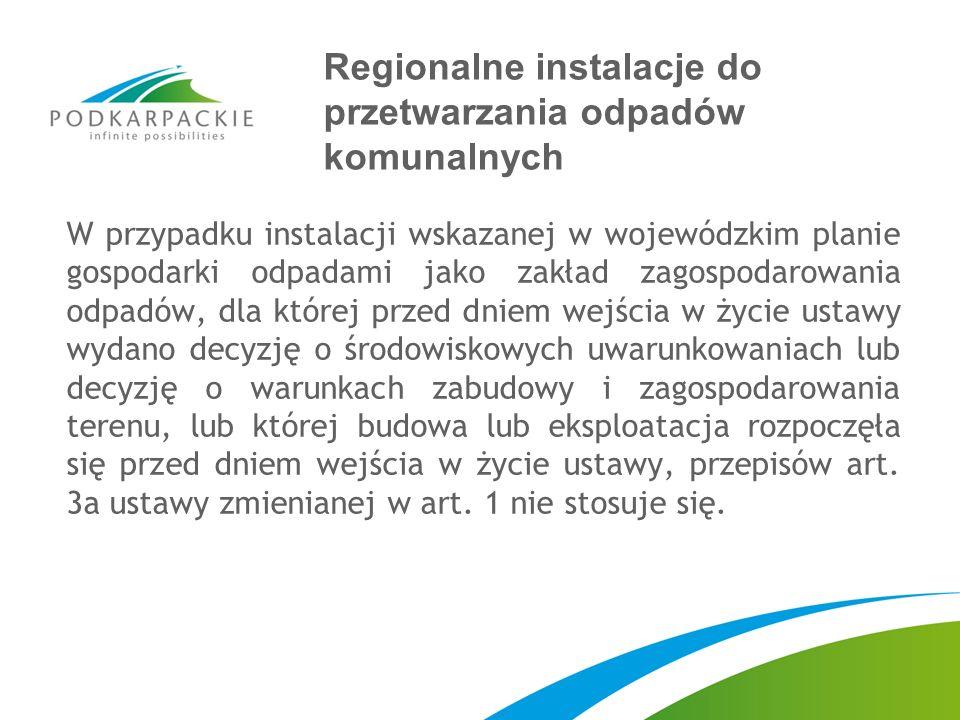 Regionalne instalacje do przetwarzania odpadów komunalnych