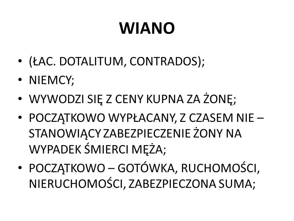WIANO (ŁAC. DOTALITUM, CONTRADOS); NIEMCY;