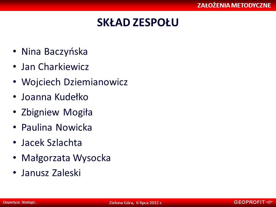 SKŁAD ZESPOŁU Nina Baczyńska Jan Charkiewicz Wojciech Dziemianowicz