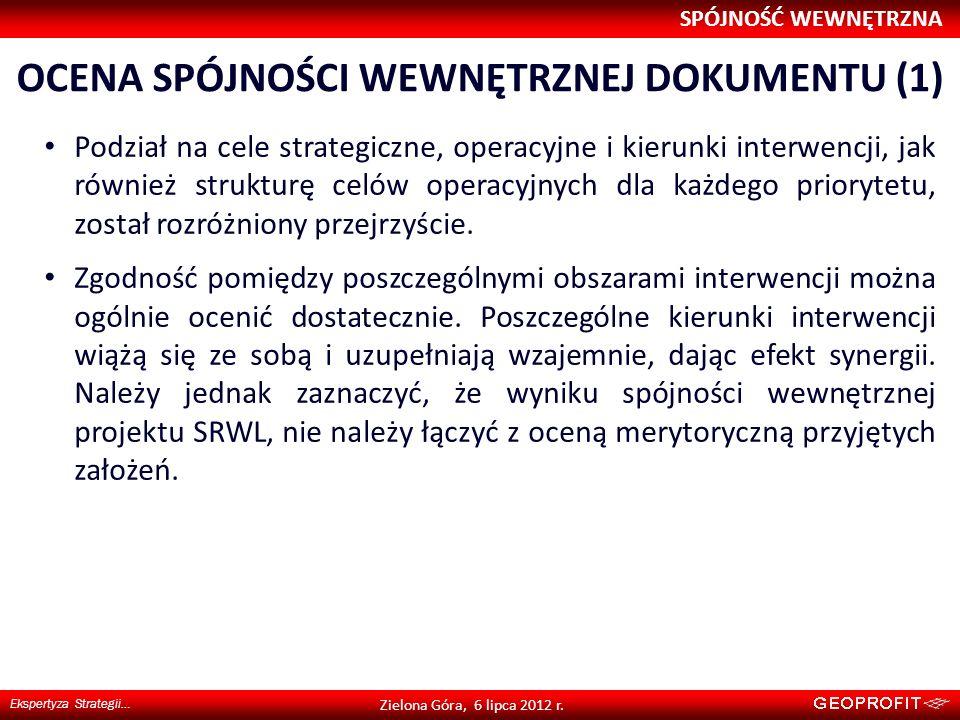 Ocena spójności wewnętrznej dokumentu (1)